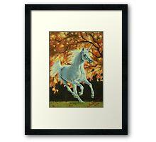 Autumn Unicorn Framed Print