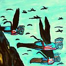 WIZARD OF OZ FLYING MONKEYS by JoAnnHayden