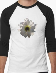Backlit White Daisy Men's Baseball ¾ T-Shirt