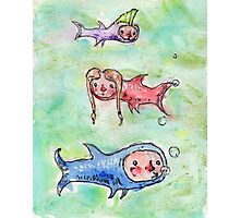 Lil Swimmers Photographic Print