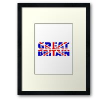 Great britain flag union jack Framed Print