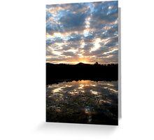 Hinterland Sunset Greeting Card
