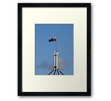 flag waving Framed Print