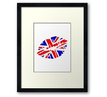 Great britain flag kiss  Framed Print