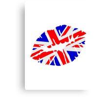 Great britain flag kiss  Canvas Print