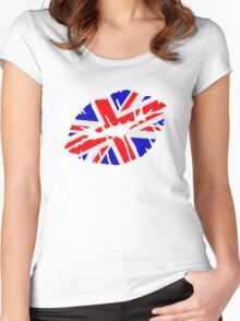 Great britain flag kiss  Women's Fitted Scoop T-Shirt