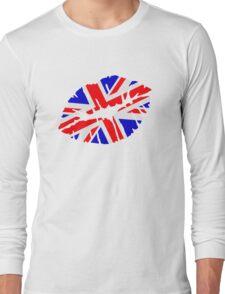 Great britain flag kiss  Long Sleeve T-Shirt