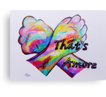 American Sign Language - That's Amore! Canvas Print
