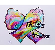 American Sign Language - That's Amore! Photographic Print
