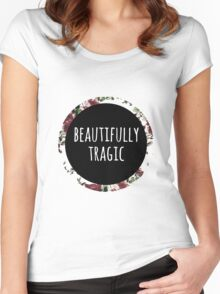 Beautifully Tragic Floral Women's Fitted Scoop T-Shirt