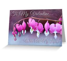 Hearts and Flowers for Valentine's Day Greeting Card