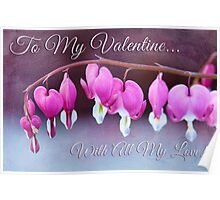 Hearts and Flowers for Valentine's Day Poster
