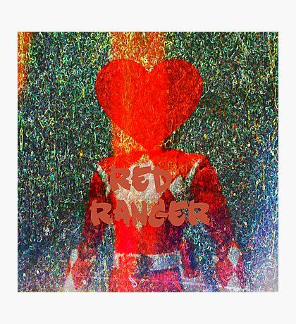 My Ex Boyfriend is a power ranger, red ranger  Photographic Print