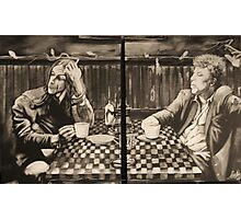 """iggy pop and tom waits,...""""coffee and cigarettes"""" Photographic Print"""