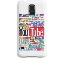 Youtube Colored Collage Samsung Galaxy Case/Skin