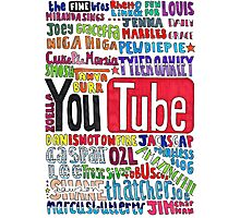 Youtube Colored Collage Photographic Print