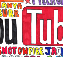Youtube Colored Collage Sticker