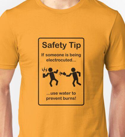 Safety Tips #3 Unisex T-Shirt