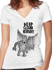 deep carbon observatory Women's Fitted V-Neck T-Shirt