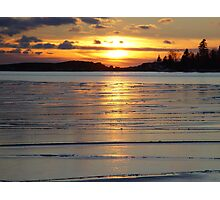AT Lake Superior Grand Marais frozen Photographic Print