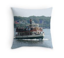 Casco Ferry in Portland, Maine  Throw Pillow