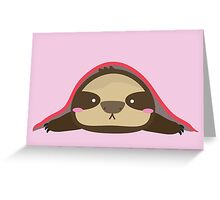 SLOTH UNDER BLANKET Greeting Card