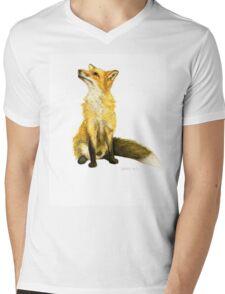 Fluffy  Fox Mens V-Neck T-Shirt