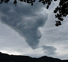 Funnel Cloud Over The Mountains by Menega  Sabidussi