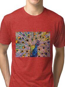 Lovely Peacock Tri-blend T-Shirt