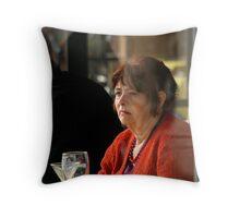 Melancholic Lady Throw Pillow