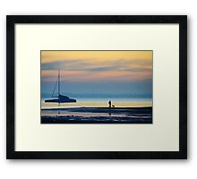 Must love long strolls along the beach, preferably with tennis balls... Framed Print