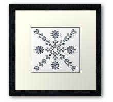 Valentine Snowflake Framed Print