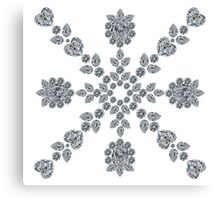 Valentine Snowflake Canvas Print