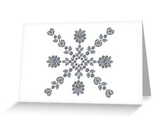 Valentine Snowflake Greeting Card