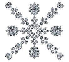 Valentine Snowflake Photographic Print