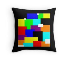 COLOR BLOCKS design Throw Pillow