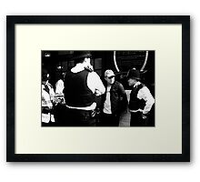 you're nicked my son!!! Framed Print