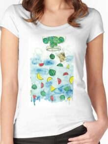 Why Watermelon Drop from Bottle? Women's Fitted Scoop T-Shirt