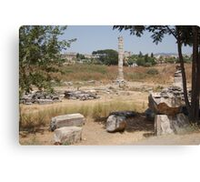 The Temple of Artemis(Diana) at Ephesus - What remains of this Wonder of the Ancient World Canvas Print