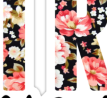 girl almighty - floral Sticker