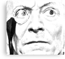1st Doctor Close Up Sketch Canvas Print