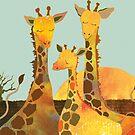 Giraffe Family by Ujean1974