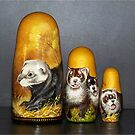 Ferret Nesting Dolls by Glenna Walker