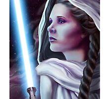 Leia as a Jedi by Jaime Gervais