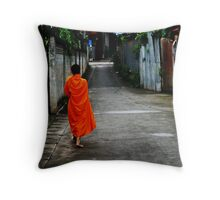walking for alms Throw Pillow