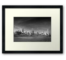Chicago City Skyline From Grant Park Framed Print