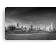 Chicago City Skyline From Grant Park Canvas Print