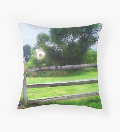 Whimsical Puffball Floating Throw Pillow