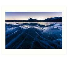Ice Crater Art Print