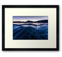 Ice Crater Framed Print